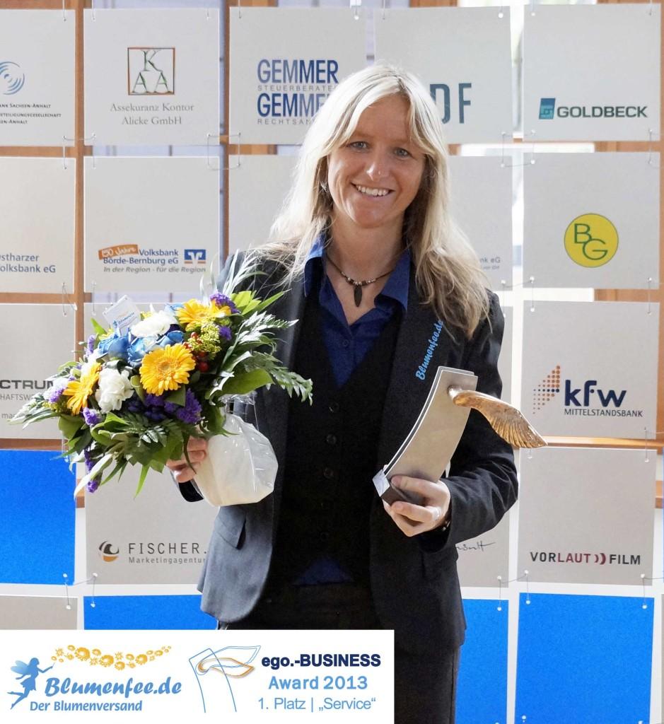 Der ego.BUSINESS Award 2013 geht an Blumenfee - Der Blumenversand