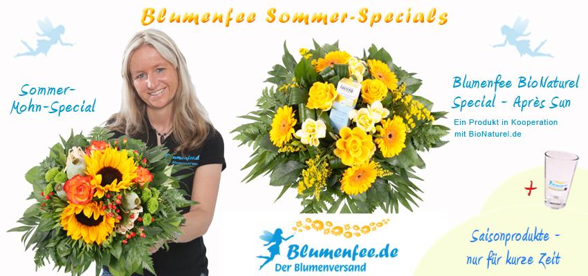 Blumenversand Blumenfee Sommer Specials: Mohn Special und Après Sun Special
