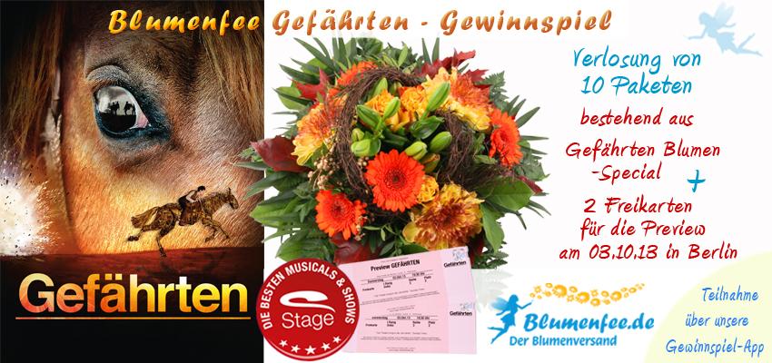 Blumenfee und Stage Entertainment Sonderaktion zur Einführung von dem Theaterstück Gefährten