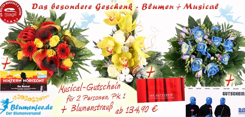 Blumenfee Musical Specials - Blumenstrauß und Musical- / Show Gutschein zusammen verschicken