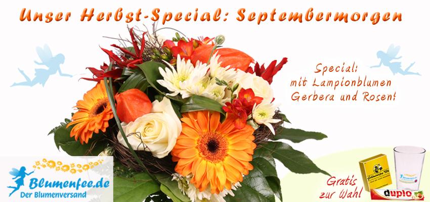 Den Herbst Blumenstraß könnt ihr online bestellen.