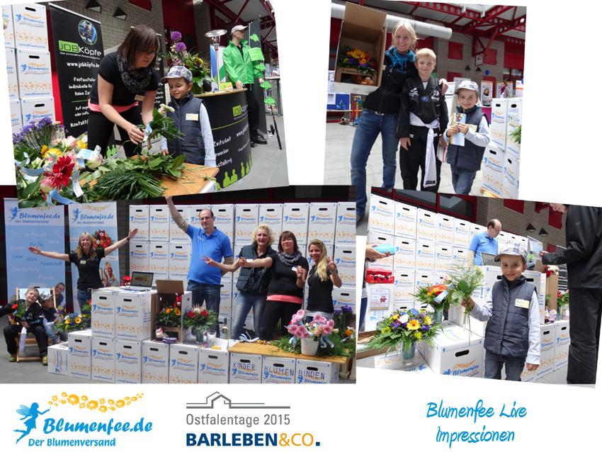 Blumenfee Messe Team - Ostfalentage 2015 mit dem Kinder Binden und dem Gewinnspiel Sun Chair