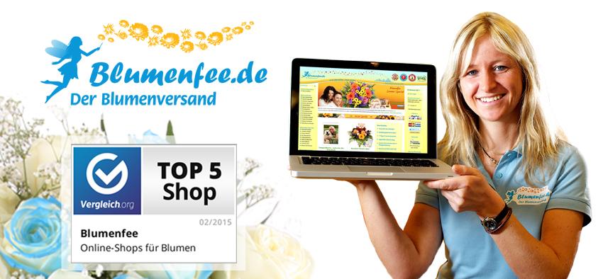 Blumenfee - Der Blumenversand wurde zu den Top 5 Blumenversendern in Deutschland gewählt