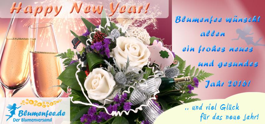 Neujahrs-Blumenstrauß Neujahrszauber Wachsrosen - der blumig-elegante Neujahrsgruß