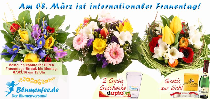 Blumenstrauß zum Frauentag am 08. März