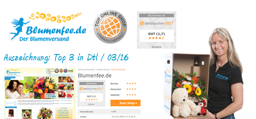 Blumenfee Auszeichnung Top Online Shop - Verbraucherwelt