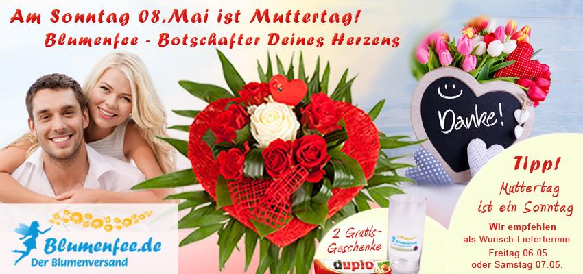 Blumenversand zum Muttertag - Danke sagen mit Blumen von Blumenfee