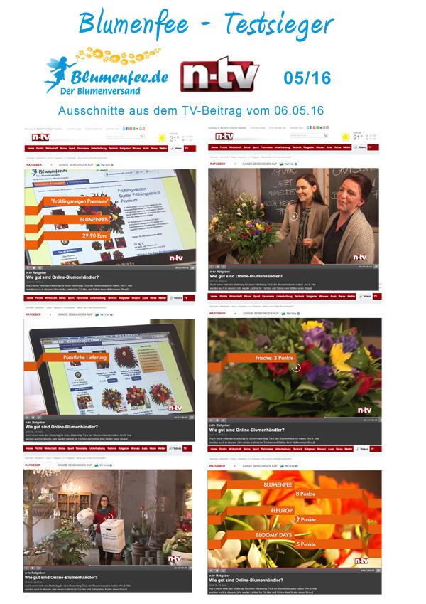 n-tv TV Bericht Blumenversender Test 05/16