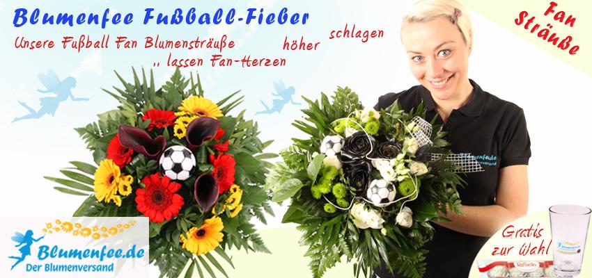 Fussball Fan Blumen versenden