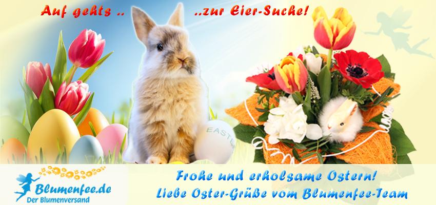 Frohe Ostern wünscht das Blumenfee-Team