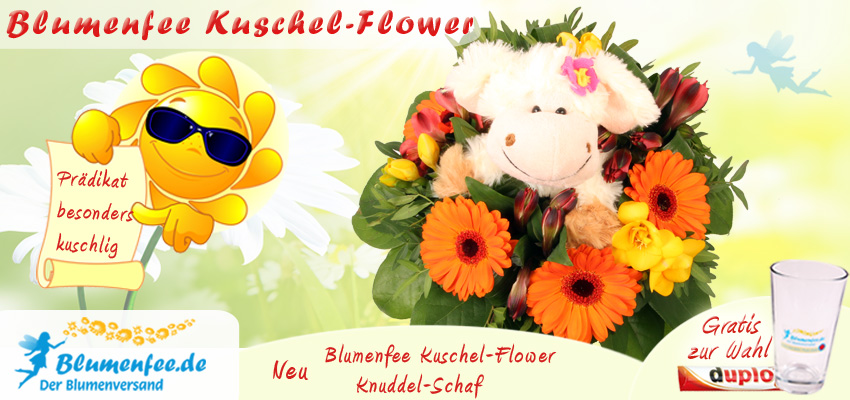 Blumenfee Kuschel Blumenstrauß - das geht mit Blumenfee Kuschel-Flower