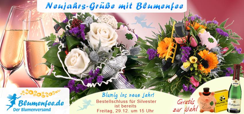 Blumenversand Silvester / Neujahr