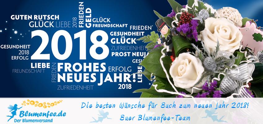 Blumenfee Silvester Neujahrs-Grüße