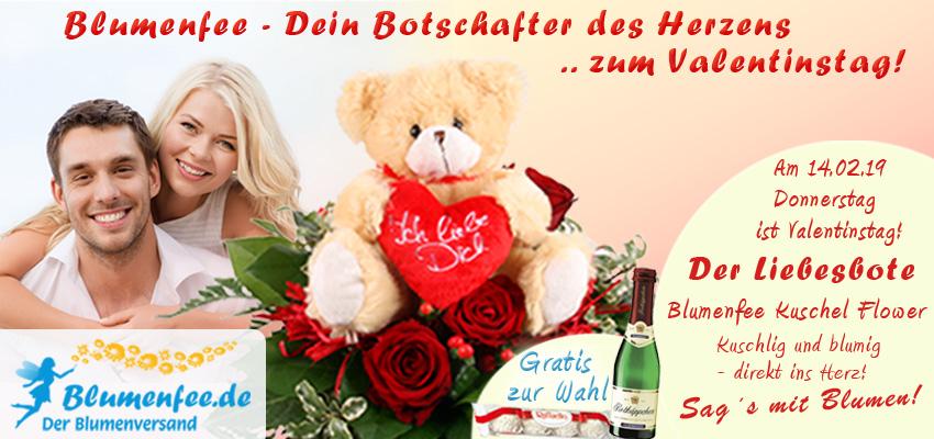 Blumenfee - Der Blumenversand - Dein Botschafter des Herzens zum Valentinstag - Blumen online versenden