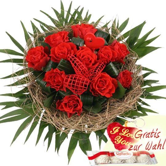 Blumenstrauss Zu Valentin Rote Rosen Zu Valentin Online