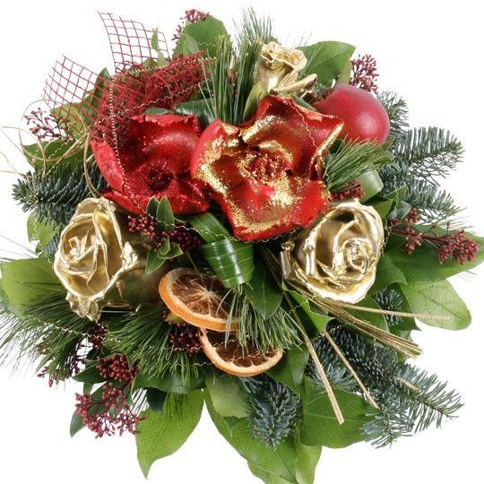 Blumenstrauss Goldene Weihnacht Blumen Online Deutschlandweit