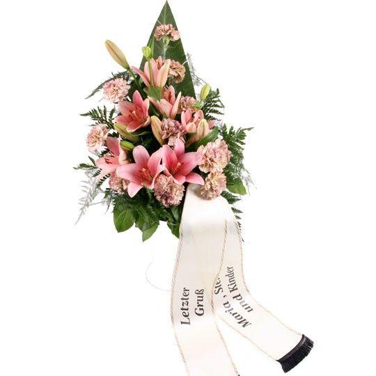 b3b85ef8c5d56d Trauerstrauß mit Trauerschleife – Blumen online verschicken auf  www.blumenfee.de