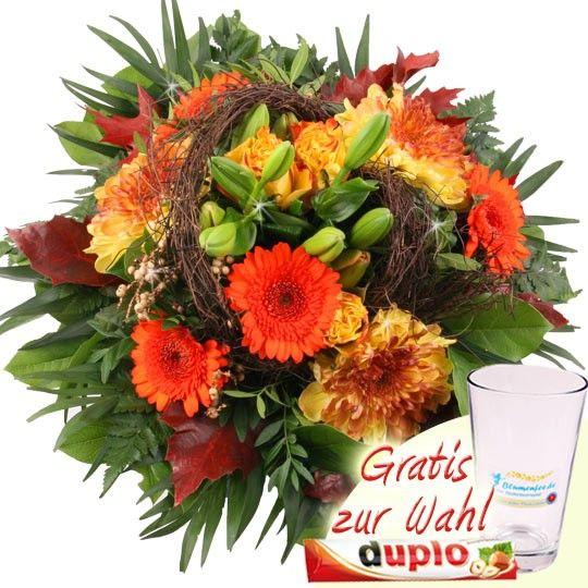 Außergewöhnlich Blumenversand im Herbst - Herbst Farbenpracht Premium Blumenstrauß @PJ_75