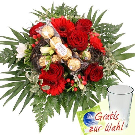 Blumenstrauss Gold Traum Mit 3 Gratiszugaben Ihrer Wahl Blumen