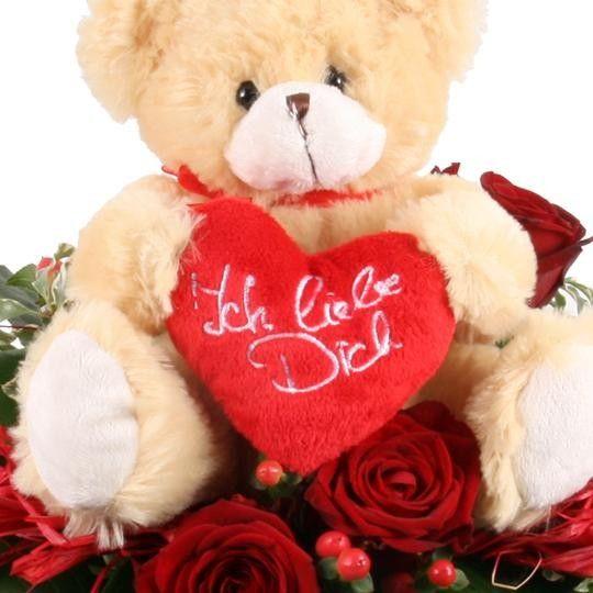 Blumenstrauß Liebesbote Zum Valentinstag   Kuschliger Liebesgruß
