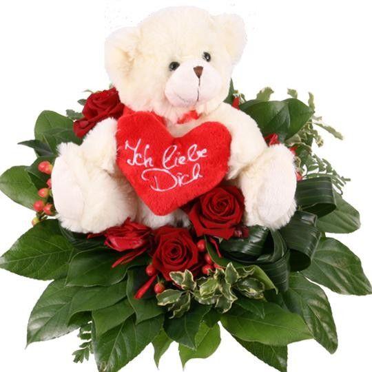 Blumenstrauß Liebesbote zum Valentinstag mit Gratiszugabe Ihrer ...