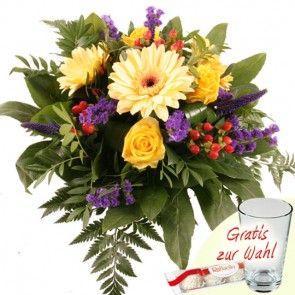 Blumenstrauß Farbenmeer mit 3 Gratiszugaben Ihrer Wahl – Blumen online verschicken auf www.blumenfee.de