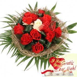 Rosenstrauß online verschicken mit Blumenfee - dem schnellen und günstigen Blumenversand