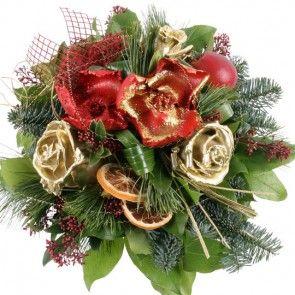 Blumenstrauß Goldene Weihnacht mit Gratiszugabe Ihrer Wahl – Blumen online deutschlandweit versenden  mit www.blumenfee.de - dem Blumenversand