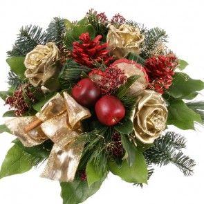 Blumenstrauß Weihnachtsglanz mit Gratiszugabe Ihrer Wahl – Blumen online deutschlandweit versenden  mit www.blumenfee.de - dem Blumenversand
