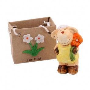Süße Deko-Schaf Figur als Ergänzung zu Ihrem Blumenstrauß online bestellen auf Blumenfee.de