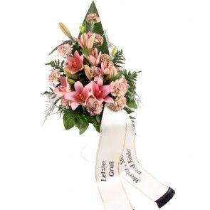 Trauerstrauß mit Trauerschleife – Blumen online verschicken auf www.blumenfee.de