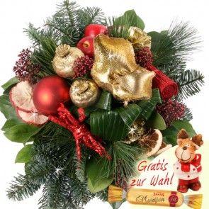 Weihnachtsstrauß / Adventstraus mit Weihnachst Exoten Premium-Strauß online schnell und sicher versenden