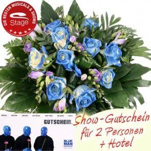Blue Man Group Gutschein und Blumen online verschicken und verschenken