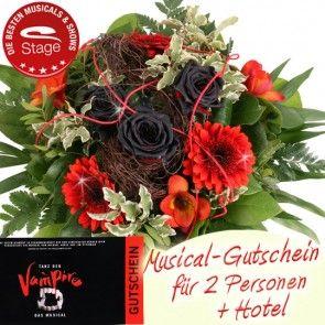 Tanz der Vampire Musical Gutschein Paket - inkl. Blumenstrauss und Hotelübernachtung mit Frühstück online bestellen und versenden