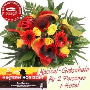 Musical Gutschein Hinterm Horizont mit Blumen online versenden und ein Erlebnis-Geschenk der Extraklasse verschenken - mit Blumenfee.