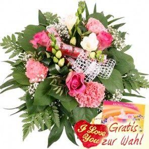 Ein Blumentraum zu Valentin  in Rosa und Weiß - Zarte Farben zum Valentinstag günstig und schnell online bestellen