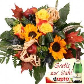 Herbst-Blumentrauss sicher und günstig online verschicken mit Blumenfee