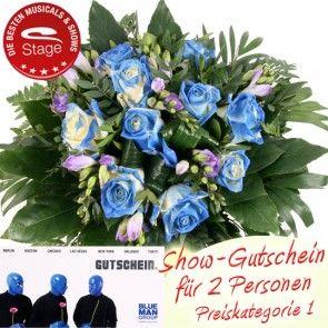 Musical Gutschein Blue Man Group online bestellen und als Geschenk verschicken.