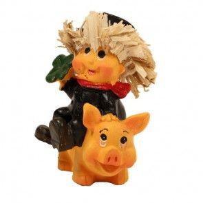 Schornsteinfeger auf Glücksschwein 7 cm hoch