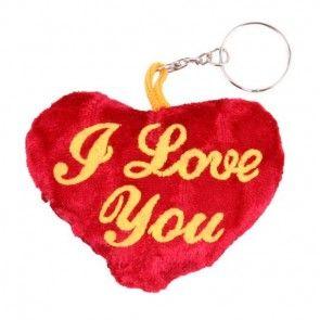 Plüsch-Herz Schlüsselanhänger als Ergänzung zu Ihrem Blumenstrauß - online bestellen auf blumenfee.de als Ergänzung zu Ihrem Blumenstrauß - online bestellen auf blumenfee.de