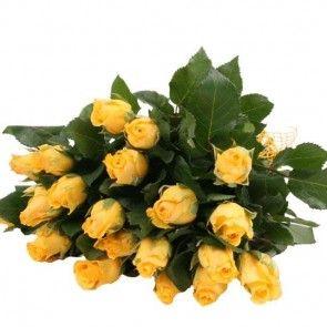Gelbe Rosen im Bund – Gelbe Rosen online versenden  mit www.blumenfee.de - dem Rosenversand