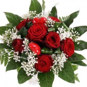 Blumenstrauß Rosenzauber mit Gratiszugabe Ihrer Wahl – Blumen online deutschlandweit versenden  mit www.blumenfee.de - dem Blumenversand