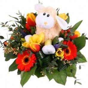 Blumenstrauß Happy Easter - Blumen online deutschlandweit versenden  mit www.blumenfee.de - dem Blumenversand