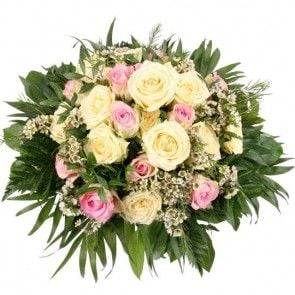 """Rosenstrauß """"Rosengarten Premium"""" mit 3 Gratiszugaben Ihrer Wahl – Rosen online deutschlandweit verschicken mit der Blumenfee"""