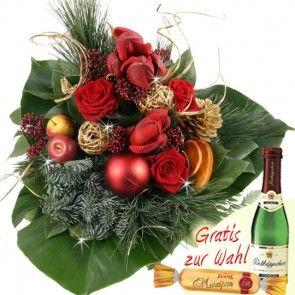 Adventsstrauß Premium - Weihnachtsstrauß ausgefallen - online verschicken