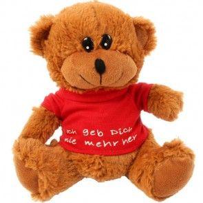 Teddybär mit Shirt - Hellbraun
