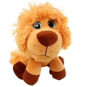 Kuscheltier Löwe mit Zottel-Mähne und blauen Augen