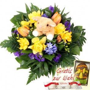 Osterblumenstrauß Blumenfee Kuschel-Flower  online verschicken