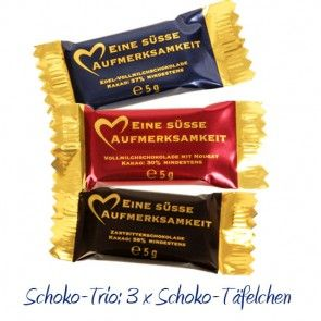 Schoko-Trio Süße Aufmerksamkeit