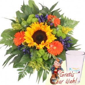 Sommer Strauss Sonnengold sicher und schnell versenden mit Blumenfee